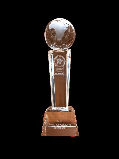trofeo premios WPO world packaging organisation